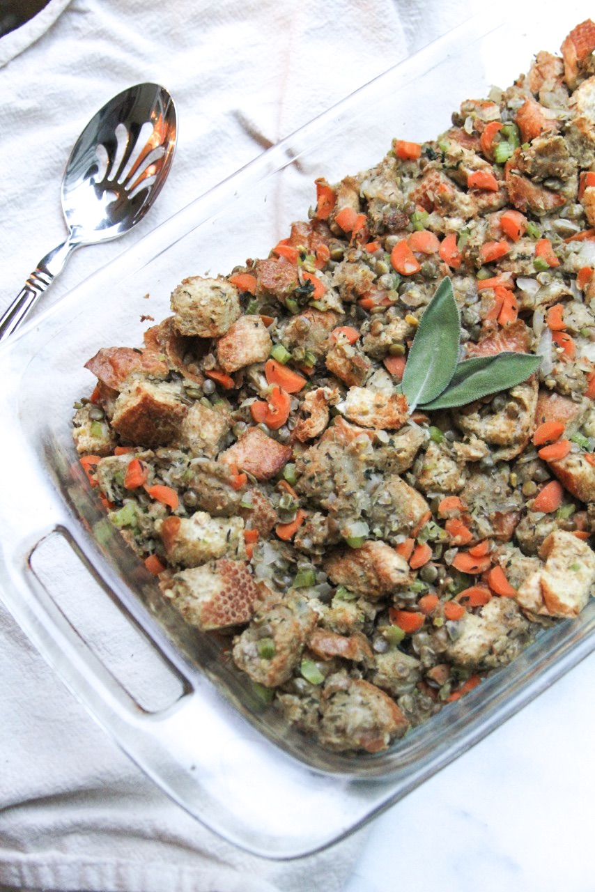 Vegan Lentil Stuffing | Healthy & Easy